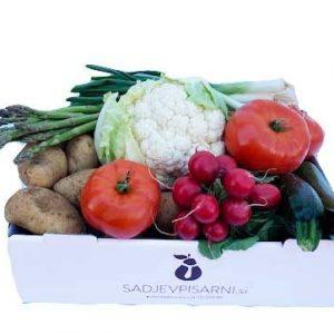 Dostava zelenjavega zabojcka spomladanko na dom