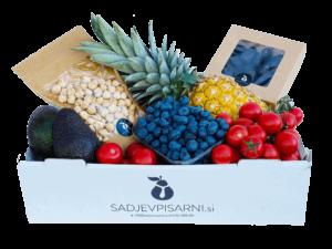 dostava živil mešani zabojček sadja, zelenjave in oreščkov