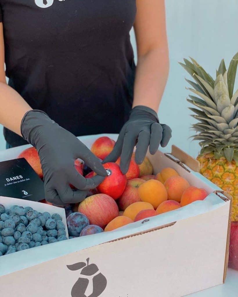 dostava hrane v podjetje